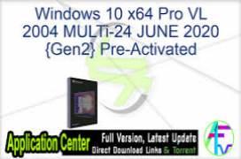 Windows 10 X64 Pro 20H2 MULTi-24 NOV 2020 {Gen2}